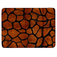 Skin1 Black Marble & Brown Burl Wood Samsung Galaxy Tab 7  P1000 Flip Case by trendistuff