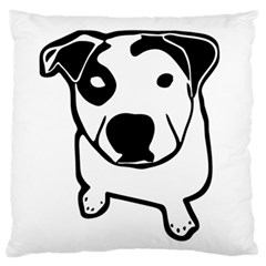 Pit Bull T Bone Graphic Large Flano Cushion Case (two Sides) by ButThePitBull