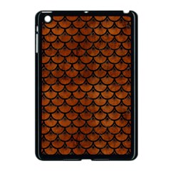 Scales3 Black Marble & Brown Burl Wood (r) Apple Ipad Mini Case (black) by trendistuff