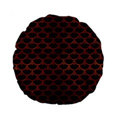 Scales3 Black Marble & Brown Burl Wood Standard 15  Premium Round Cushion  by trendistuff