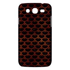 Scales3 Black Marble & Brown Burl Wood Samsung Galaxy Mega 5 8 I9152 Hardshell Case  by trendistuff