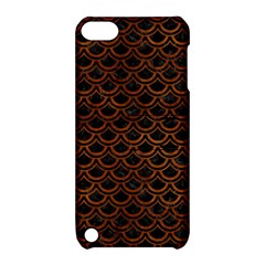 Scales2 Black Marble & Brown Burl Wood Apple Ipod Touch 5 Hardshell Case With Stand by trendistuff
