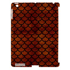 Scales1 Black Marble & Brown Burl Wood (r) Apple Ipad 3/4 Hardshell Case (compatible With Smart Cover) by trendistuff