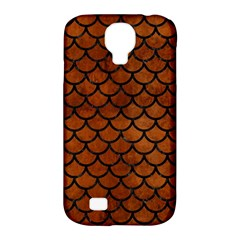 Scales1 Black Marble & Brown Burl Wood (r) Samsung Galaxy S4 Classic Hardshell Case (pc+silicone) by trendistuff