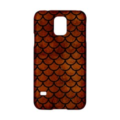 Scales1 Black Marble & Brown Burl Wood (r) Samsung Galaxy S5 Hardshell Case  by trendistuff