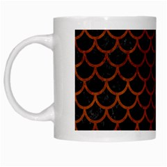 Scales1 Black Marble & Brown Burl Wood White Mug by trendistuff