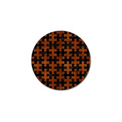 Puzzle1 Black Marble & Brown Burl Wood Golf Ball Marker (4 Pack) by trendistuff