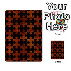 Puzzle1 Black Marble & Brown Burl Wood Multi Purpose Cards (rectangle) by trendistuff