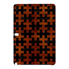 Puzzle1 Black Marble & Brown Burl Wood Samsung Galaxy Tab Pro 12 2 Hardshell Case by trendistuff
