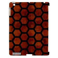 Hexagon2 Black Marble & Brown Burl Wood (r) Apple Ipad 3/4 Hardshell Case (compatible With Smart Cover) by trendistuff