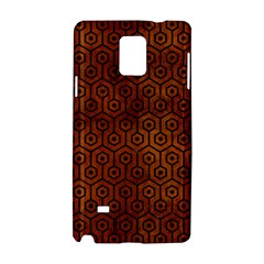 Hexagon1 Black Marble & Brown Burl Wood (r) Samsung Galaxy Note 4 Hardshell Case by trendistuff