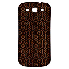 Hexagon1 Black Marble & Brown Burl Wood Samsung Galaxy S3 S Iii Classic Hardshell Back Case by trendistuff