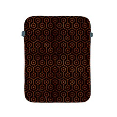 Hexagon1 Black Marble & Brown Burl Wood Apple Ipad 2/3/4 Protective Soft Case by trendistuff