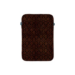 Hexagon1 Black Marble & Brown Burl Wood Apple Ipad Mini Protective Soft Case by trendistuff