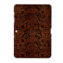 Damask2 Black Marble & Brown Burl Wood Samsung Galaxy Tab 2 (10 1 ) P5100 Hardshell Case  by trendistuff