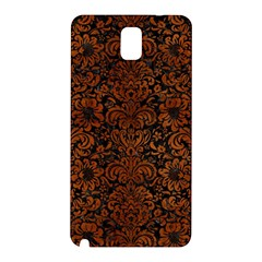 Damask2 Black Marble & Brown Burl Wood Samsung Galaxy Note 3 N9005 Hardshell Back Case by trendistuff