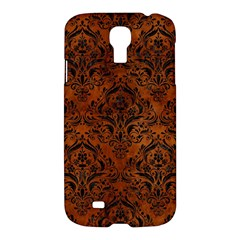 Damask1 Black Marble & Brown Burl Wood (r) Samsung Galaxy S4 I9500/i9505 Hardshell Case by trendistuff