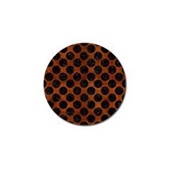 Circles2 Black Marble & Brown Burl Wood (r) Golf Ball Marker by trendistuff