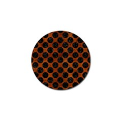 Circles2 Black Marble & Brown Burl Wood (r) Golf Ball Marker (10 Pack) by trendistuff