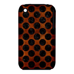 Circles2 Black Marble & Brown Burl Wood (r) Apple Iphone 3g/3gs Hardshell Case (pc+silicone) by trendistuff