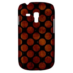 Circles2 Black Marble & Brown Burl Wood Samsung Galaxy S3 Mini I8190 Hardshell Case by trendistuff