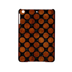 Circles2 Black Marble & Brown Burl Wood Apple Ipad Mini 2 Hardshell Case