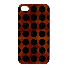 Circles1 Black Marble & Brown Burl Wood (r) Apple Iphone 4/4s Hardshell Case by trendistuff