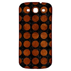 Circles1 Black Marble & Brown Burl Wood Samsung Galaxy S3 S Iii Classic Hardshell Back Case by trendistuff