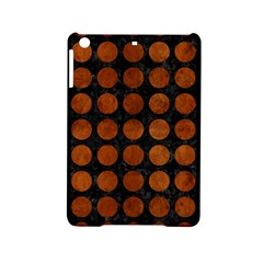 Circles1 Black Marble & Brown Burl Wood Apple Ipad Mini 2 Hardshell Case