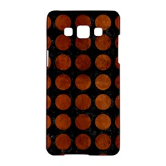 Circles1 Black Marble & Brown Burl Wood Samsung Galaxy A5 Hardshell Case  by trendistuff