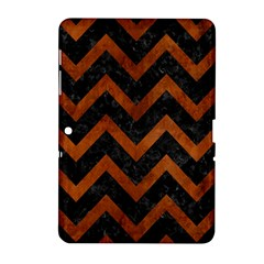 Chevron9 Black Marble & Brown Burl Wood Samsung Galaxy Tab 2 (10 1 ) P5100 Hardshell Case  by trendistuff