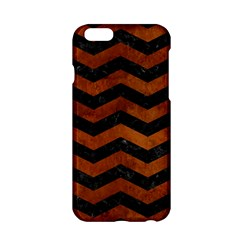 Chevron3 Black Marble & Brown Burl Wood Apple Iphone 6/6s Hardshell Case by trendistuff