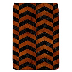 Chevron2 Black Marble & Brown Burl Wood Removable Flap Cover (l) by trendistuff