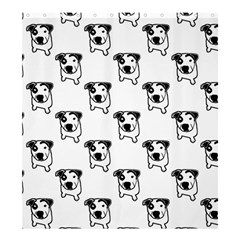 Pit Bull T Bone Graphic Shower Curtain 66  X 72  (large) by ButThePitBull