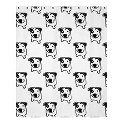 Pit Bull T Bone Graphic Shower Curtain 60  X 72  (medium) by ButThePitBull