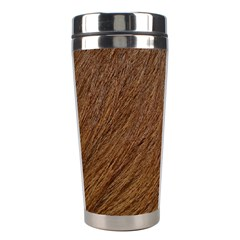 Orange Fur Stainless Steel Travel Tumblers by timelessartoncanvas