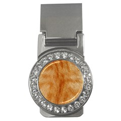 Orange Fur 2 Money Clips (cz)  by timelessartoncanvas