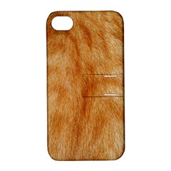 Orange Fur 2 Apple Iphone 4/4s Hardshell Case With Stand by timelessartoncanvas