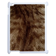 Silber Tiger Fur Apple Ipad 2 Case (white) by timelessartoncanvas