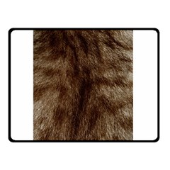 Silber Tiger Fur Double Sided Fleece Blanket (small)  by timelessartoncanvas