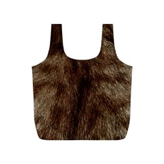 Silber Tiger Fur Full Print Recycle Bags (s)  by timelessartoncanvas