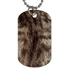Black And White Silver Tiger Fur Dog Tag (two Sides) by timelessartoncanvas