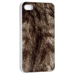 Black And White Silver Tiger Fur Apple Iphone 4/4s Seamless Case (white) by timelessartoncanvas