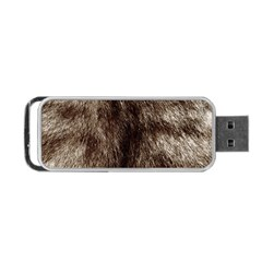 Black And White Silver Tiger Fur Portable Usb Flash (two Sides) by timelessartoncanvas