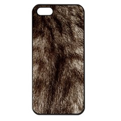 Black And White Silver Tiger Fur Apple Iphone 5 Seamless Case (black) by timelessartoncanvas