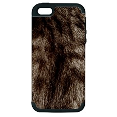Black And White Silver Tiger Fur Apple Iphone 5 Hardshell Case (pc+silicone) by timelessartoncanvas