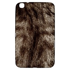 Black And White Silver Tiger Fur Samsung Galaxy Tab 3 (8 ) T3100 Hardshell Case  by timelessartoncanvas