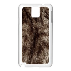 Black And White Silver Tiger Fur Samsung Galaxy Note 3 N9005 Case (white) by timelessartoncanvas