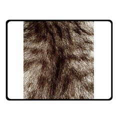 Black And White Silver Tiger Fur Double Sided Fleece Blanket (small)  by timelessartoncanvas