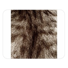 Black And White Silver Tiger Fur Double Sided Flano Blanket (large)